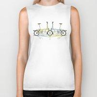brompton Biker Tanks featuring Brompton Bicycle by Wyatt Design