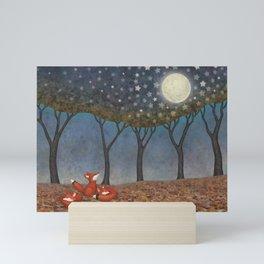 sleepy foxes Mini Art Print