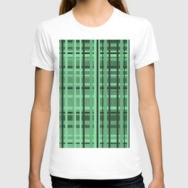 checkered Design green T-shirt