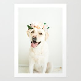 Flower Pup Art Print