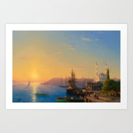 Ivan Aivazovsky - View of Constantinople and the Bosphorus Art Print