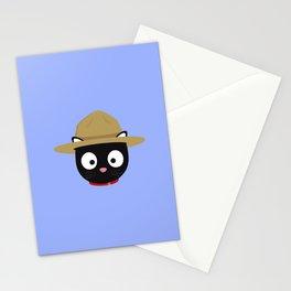 Park ranger cat head Stationery Cards
