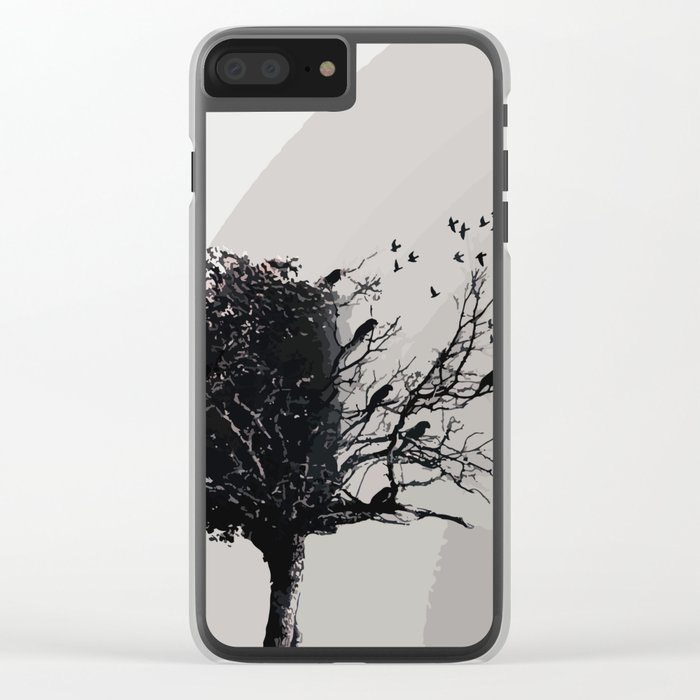 Forgotten tree Clear iPhone Case