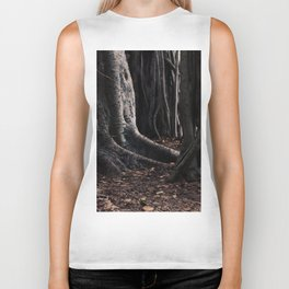 Spooky Winter Trees Biker Tank