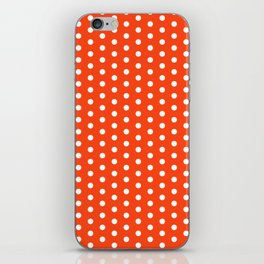 Florida fan university gators orange and blue college sports football dots pattern iPhone Skin