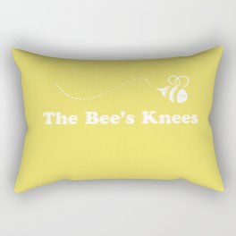 The Bee's Knees - Yellow Cute Design Rectangular Pillow