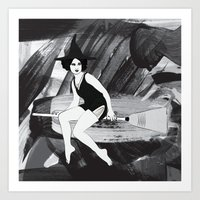 witch Art Prints featuring Witch by Inbeeswax