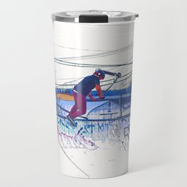 Spinning the Deck - Trick Scooter Sports Art Travel Mug
