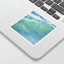 Teal Surf Sticker