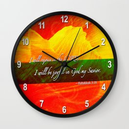 I Will be Joyful! Wall Clock