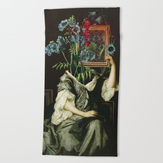 Florales Portrait Disaster Beach Towel