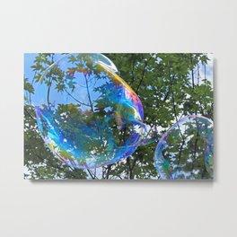 raibow bubbles Metal Print