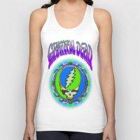 grateful dead Tank Tops featuring Grateful Dead #9 Optical Illusion Psychedelic Design by CAP Artwork & Design