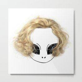 Blondes have more fun Metal Print