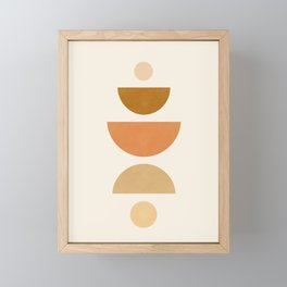 Abstraction_Geometric_Shape_Moon_Sun_Minimalism_001D Framed Mini Art Print