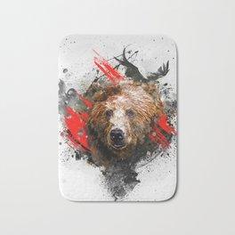 Bear - abstract animal poster Bath Mat
