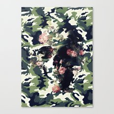 Camouflage Skull Canvas Print