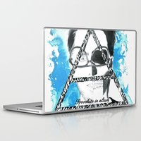 jared leto Laptop & iPad Skins featuring jared triangle leto by anxiety