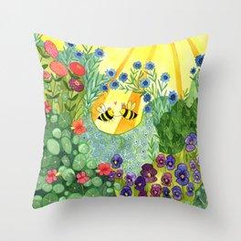 Bumblee Bee LOVE Throw Pillow