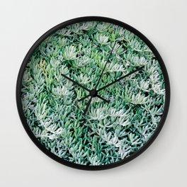 Santorini Greens Wall Clock