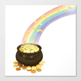 Rainbow & Pot of Gold Canvas Print