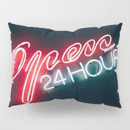 Open 24 hours Pillow Sham