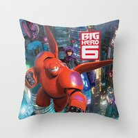 big hero 6 Throw Pillows featuring Big Hero 6  by store2u