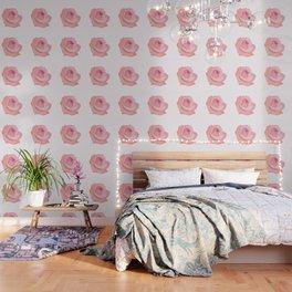 Pink Rose Illustration Wallpaper