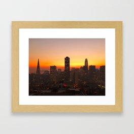 San Francisco Sunrise Framed Art Print