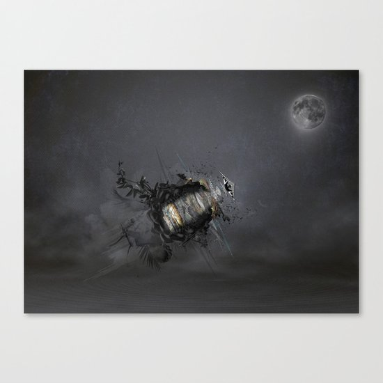 Overload the moon! Canvas Print