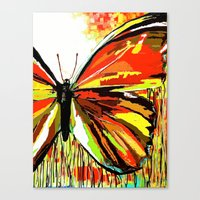 butterfly Canvas Prints featuring Butterfly  by Saundra Myles