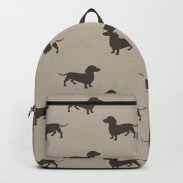 Dachshund Pattern - Tan Backpack