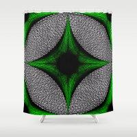 gem Shower Curtains featuring Green Gem by Sartoris ART
