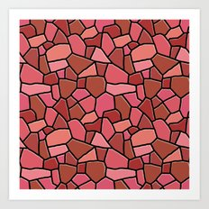 Stained Glass Red Art Print