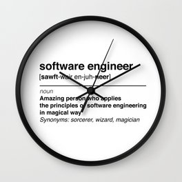 Software Engineer definition Wall Clock