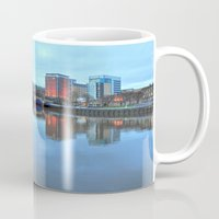 jamaica Mugs featuring Jamaica Bridge by Valerie Paterson