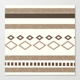 Western Pattern, Out West, Patterns, Brown, Tan, Beige, Shapes, Geometric Western Art Canvas Print