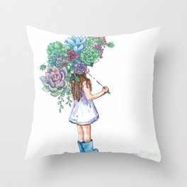 You Grow, Girl Throw Pillow