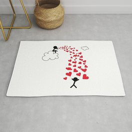 Love from the sky by Oliver Henggeler Rug