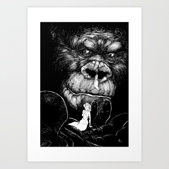 King Kong Art Print