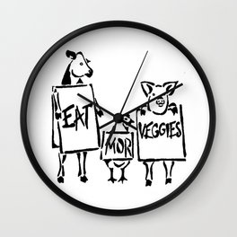eat mor veggies Wall Clock