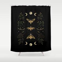 Death Head Moths Night Shower Curtain