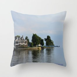 Crooked Boathouse Throw Pillow