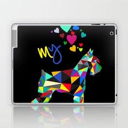 I love my schnauzer (II) Laptop & iPad Skin