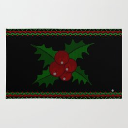 Knitted Mistletoe Rug