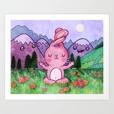 Bunny Yoga Art Print