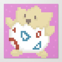 Pixel togepi Canvas Print