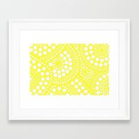 yellow pattern Framed Art Prints featuring Pattern Yellow by Wildflowers and Grace