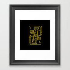 King of Hearts Framed Art Print