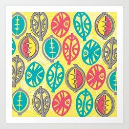 Tribal Pop Art Print